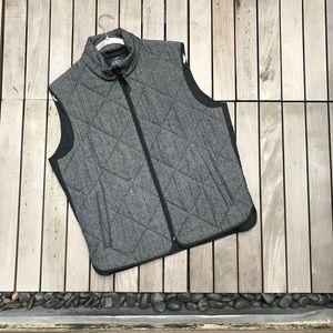 CALVIN KLEIN Grey & Black Quilted Zip Up Vest